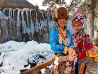 Beautiful Girls in Jiuzhaigou