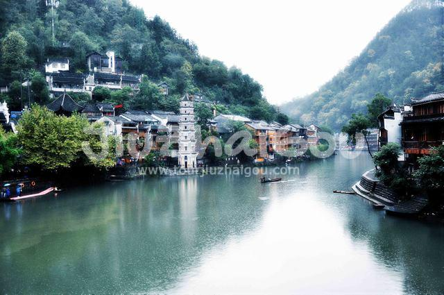 Riverside of Fenghuang Ancient City
