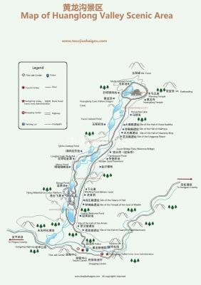Map of Huanglong Valley
