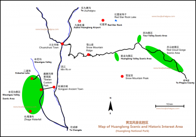 Huanglong National Park Map