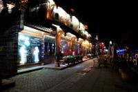 Jiezi Ancient Town at night