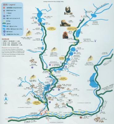 Jiuzhaigou National Park Map