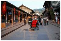 Rickshaw in Luodai Ancient Town