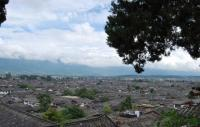 Aerial view of Lijiang Old Town
