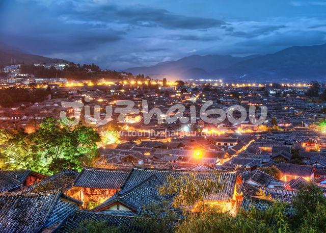 Night View of Lijiang Old Town