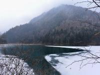 Jiuzhaigou Panda Lake in Winter