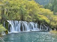 The Waterfalls in Jiuzhaigou Panda Lake