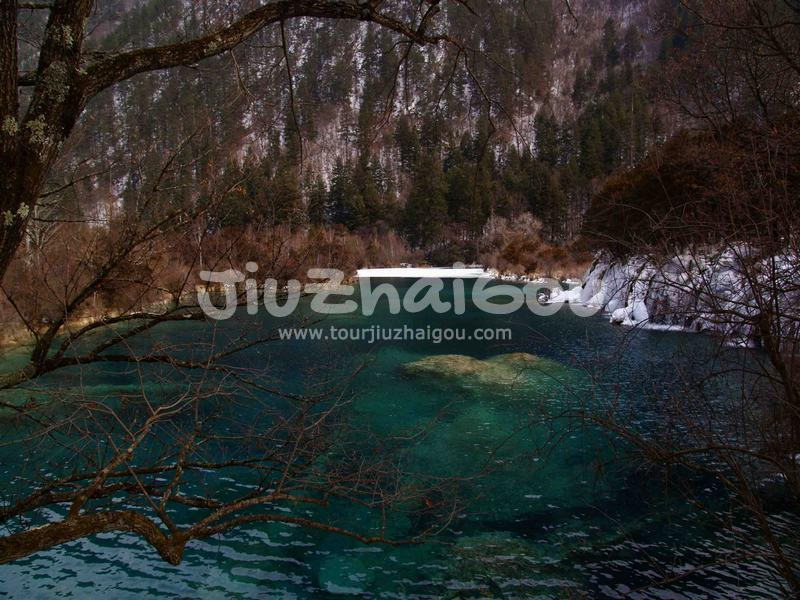 Sparkling Lake Jiuzhaigou, China