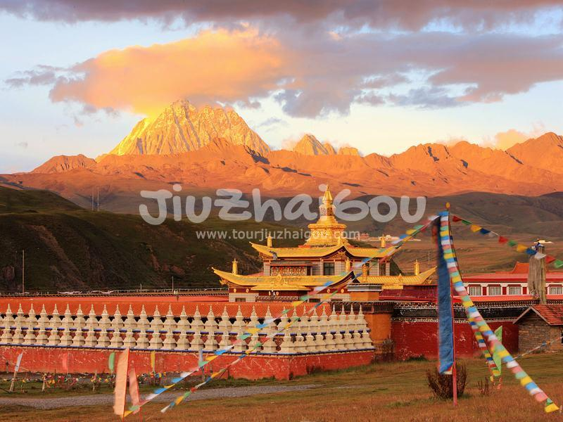 Tagong Monastery and Yala Snow Mountain